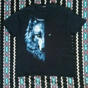 Wolf Half Face Graphic Tee